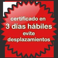 certificados en 3 días